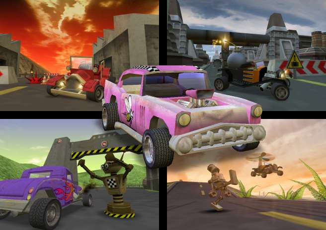 Buzzingcars A Completely Crazy 3d Car Racing Video Game For Pc